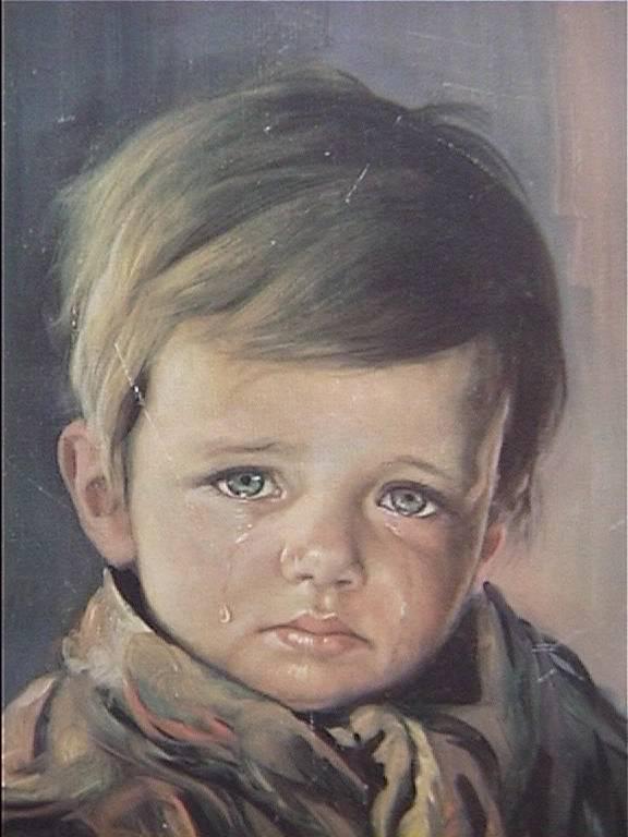 لوحة الطفل الباكي للفنان جيوفاني